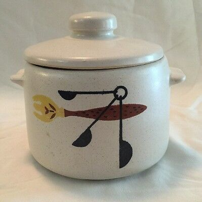 Vintage West Bend USA Pottery Bean Pot Canister Coffee Flour Cookie Jar