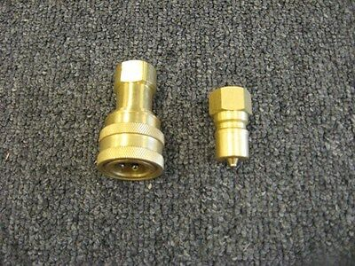 "Set of 3/8"" Brass Quick Disconnects"