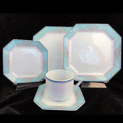 OTELLO by Bernardaud 5 Piece Place Setting NEW NEVER USED made in LIMOGES FRANCE