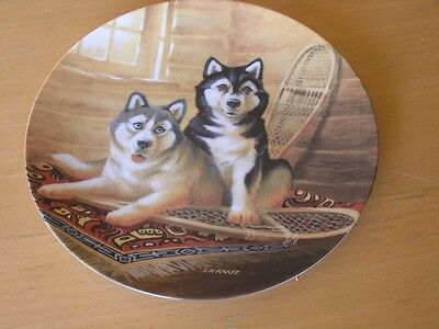 Collector Plate Lodging A Complaint Lynn Kaatz It's A Dog's Life 1993 Eskimo pup