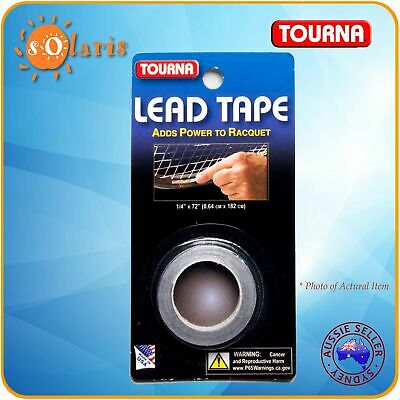 UNIQUE TOURNA LEAD TAPE 72 Inch Roll Add Power to Tennis Racquet