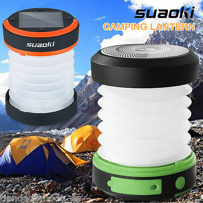 Suaoki Solar Waterproof Panel Camping LED Lantern Rechargeable Collapsible Light