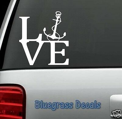 """4/""""X5/"""" Boat Anchor Car Truck Auto Vinyl Decal Sticker Graphic  Size"""