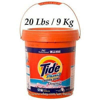TIDE PLUS+ Downy Powder Detergent Professional P&G 1 Bucket / 20 Lbs / 9 Kg NEW
