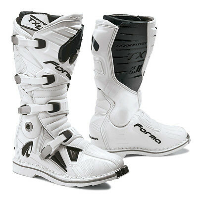 Forma Dominator TX 2.0 motorcycle boots, white, black motocross offroad mx tech