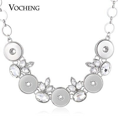 10pcs/lot Vocheng Snap Charms 18mm Alloy Statement Necklace for Women NN-505*10