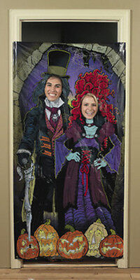 Halloween Haunted Mansion Photo Door Banner Party Game Decoration