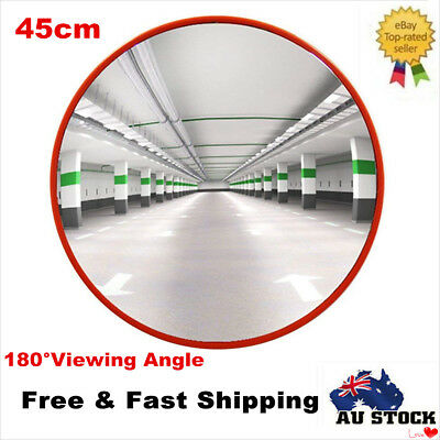 45cm Indoor Convex Safety Mirror Security Shop Blind Spot Hidden Wide Angle New