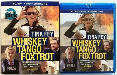 Whiskey Tango Foxtrot Blu Ray Dvd 2 Disc Set + Slipcover Sleeve Free Shipping