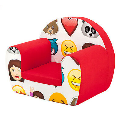 Emoji Emoticons Childrens Kids Comfy Foam Chair Toddlers Armchair Seat Reading