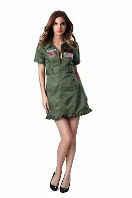 Army Girl Solider Costume Military Uniform Ladies Halloween Party Fancy Dress