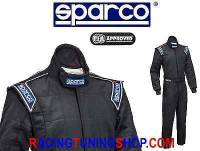 SPARCO FEUERFESTE ANZUGE RACE RALLY SUIT FIA SPRINT RS2 48 schwarz OVERALL SUIT