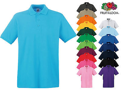 Fruit of the Loom Premium Polo 100% Baumwolle Gr. S M L XL XXL 3XL Poloshirt