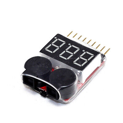 1S-8S RC Lipo Battery Low Voltage Alarm Buzzer Indicator Checker Tester LED Best