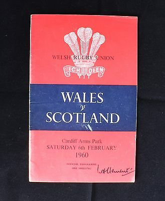 Wales v Scotland 6 February 1960 Cardiff Arms Park Official Rugby Union