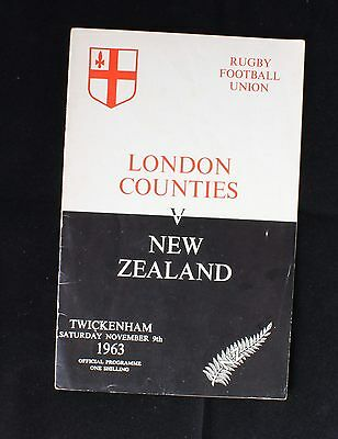 London Counties v New Zealand 9 November 1963 Twickenham Official Rugby Union