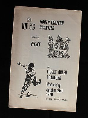 North Eastern Counties v Fiji 21 October 1970 Lidget Green, Bradford Rugby Union