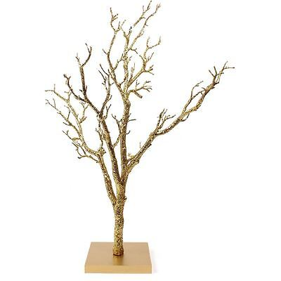Gold Glitter Twig Tree Wedding Christmas Home Display Decoration Craft 76 cm