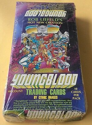 1992 Comic Images Rob Liefeld's Youngblood Trading Cards Wax Box