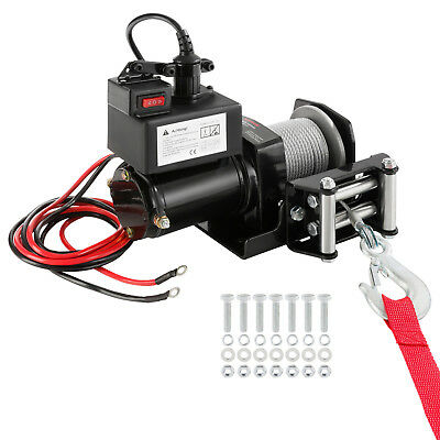 Electric Recovery Winch Rope Winch Electric Winch 12 V 2000 lbs