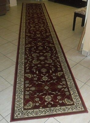 New Extra Long Persian Design Heatset Floor Hallway Runner 80X500Cm