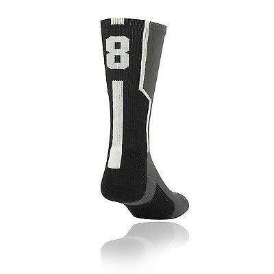 TCK Player ID Elite Jersey Number Sock BLACK (Blank,0-9) (Sold in SINGLES)