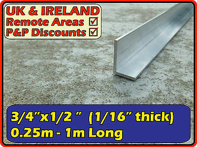 "Aluminium Angle (L section trim edging)| 3/4""x1/2"" ( 20mm 12mm  1.5mm)