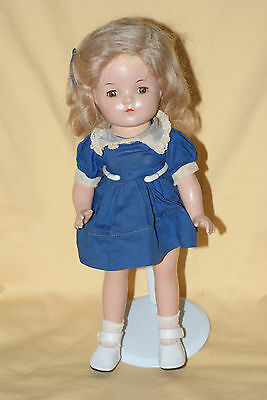 """Vintage 13"""" Madame Alexander Little Miss Colonol Betty Face Composition Doll"""