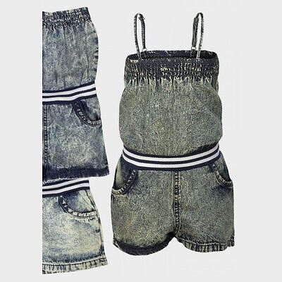 Beautiful Girls Denim Playsuit for Awesome Summer Experience
