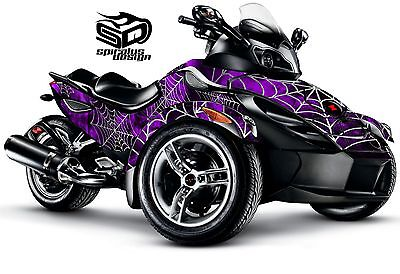 """Can Am Spyder RS RSS GS graphic wrap decal kit """"Black Widow"""""""