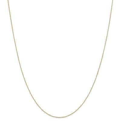 14k Yellow Gold Thin 16in 0.42mm Carded Curb Necklace Chain