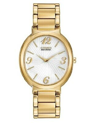 Citizen Eco-Drive EX1232-50A Allura Gold Tone Stainless Steel Women's Watch