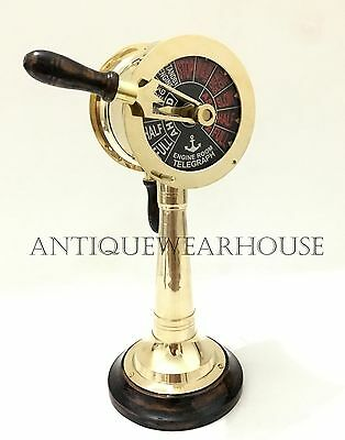 Nautical Ship Engine Room Marine Telegraph Vintage Brass Collectible Telegraph