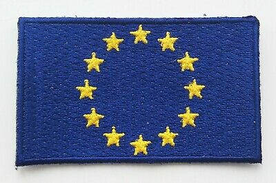 EUROPEAN UNION FLAG PATCH Embroidered Badge Iron or Sew on 4.5cm x 6cm EU NEW