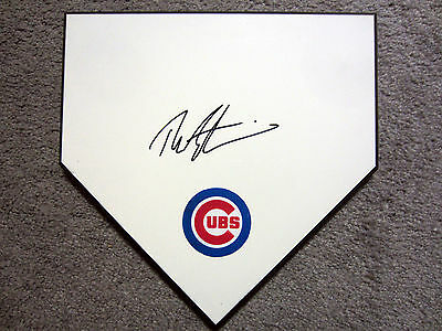 THEO EPSTEIN Chicago Cubs SIGNED Autographed Home Plate Base w/COA