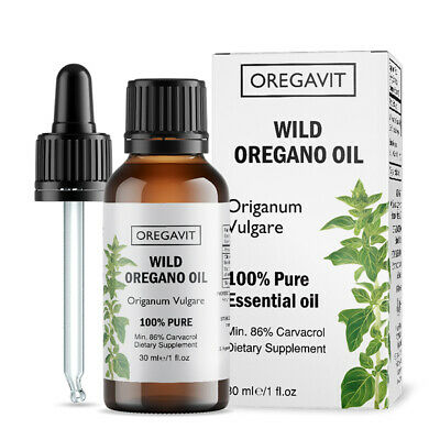 100%  WILD OIL OF OREGANO OIL 30ml/1oz  GREEK ORIGIN CARVACROL 86% CERTIFIED