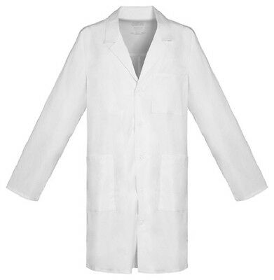 "Cherokee Workwear 38"" Unisex Lab Coat 4403 WHTV White Free Shipping"