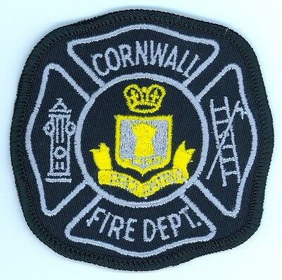 Vintage Cornwall Fire Department Uniform Patch Ontario ON Canada