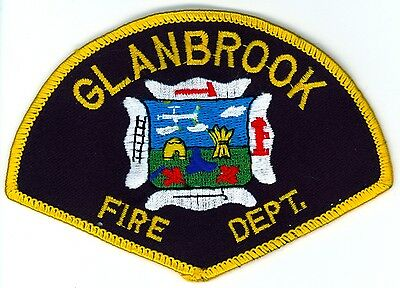 Vintage Glanbrook Fire Department Uniform Patch Ontario ON Canada