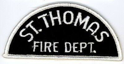 Vintage St. Thomas Fire Department Uniform Patch Ontario ON Canada #3