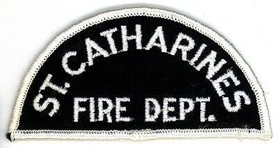 Vintage St. Catharines Fire Department Uniform Patch Ontario ON Canada