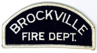 Vintage Brockville Fire Department Uniform Patch Ontario ON Canada - Small