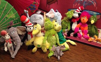 13 Plush DR SEUSS Kohl's Cares Cat In The Hat Grinch Mt Natural Nanco Macy's