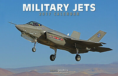 2017 Military Jets Deluxe Wall Calendar