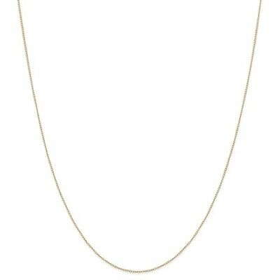14k Yellow Gold Thin 18in 0.42mm Carded Curb Necklace Chain