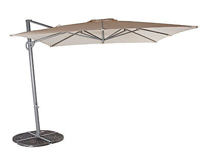 SHELTA LYNDEN CANTILEVER UMBRELLA 2.8m Square 96% UV - VARIOUS COLOURS