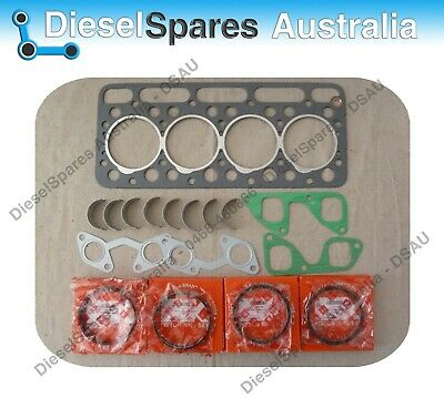 Kubota V1702 Head Gasket +Exhaust&Inlet Gasket + 4 Piston Rings +Conrod Bearings