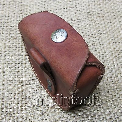 NOS Chinese Army Military Leather Belt Ammo Pouch