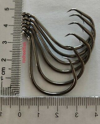 5/0 quality Chemically sharpened octopus offset circle hooks 80 pack