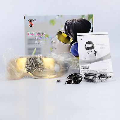Luxury Gold Rechargeable Electric Eye Massage Magnetic Health Care Massager
